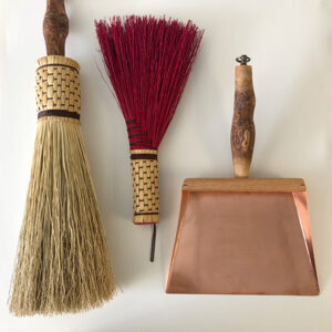brooms and dustpan