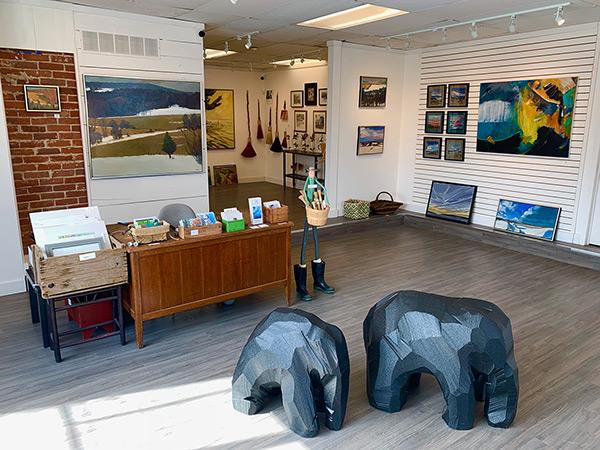 Interior of Craig Gallery.